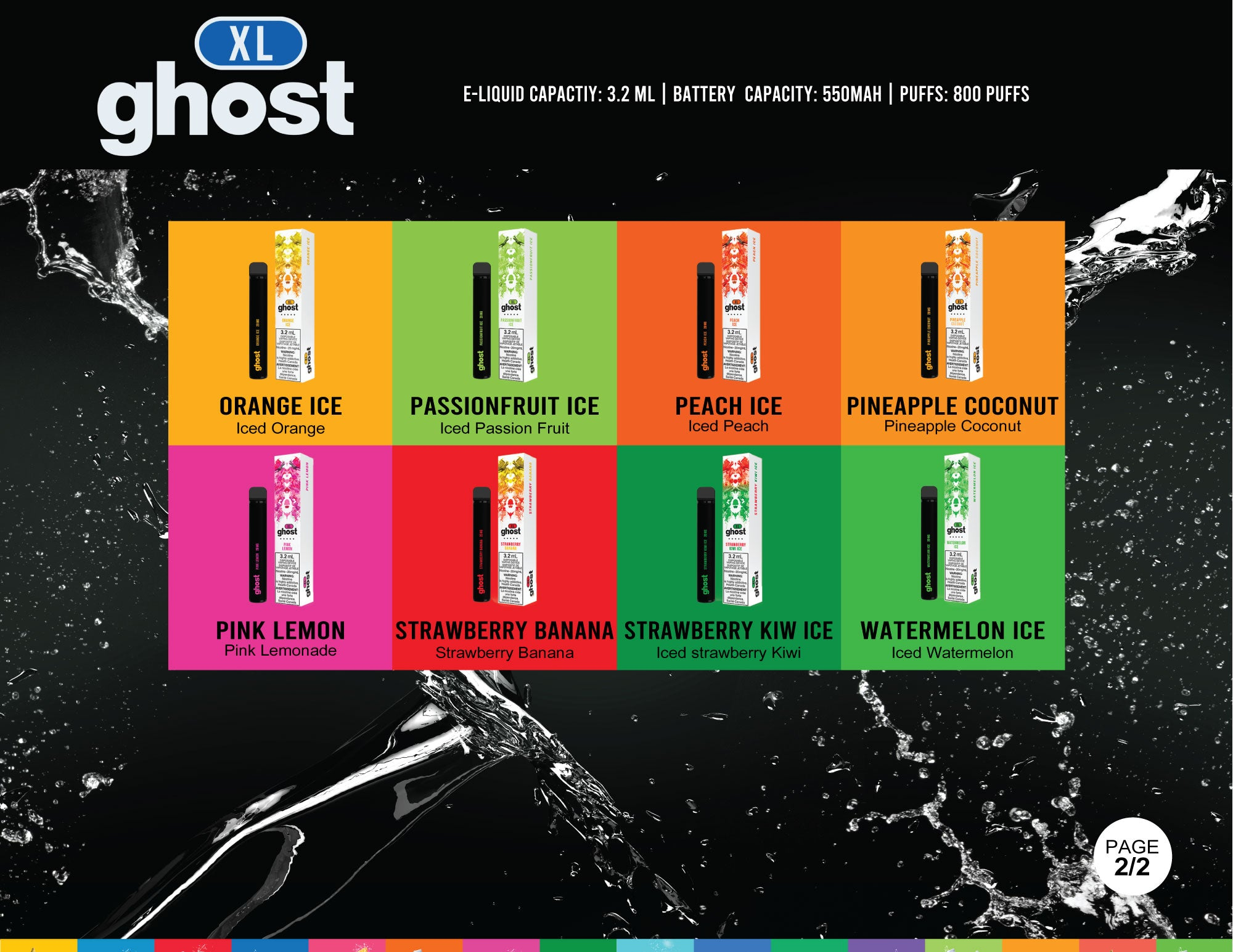 GHOST XL Disposable | Nic Strengths: 20mg | $13.99