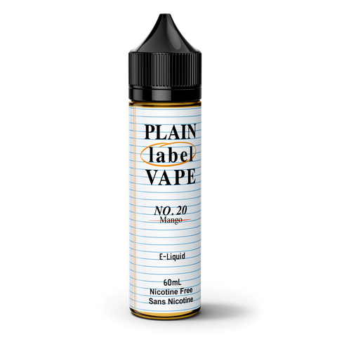 Plain Label Vape No.20 Mango