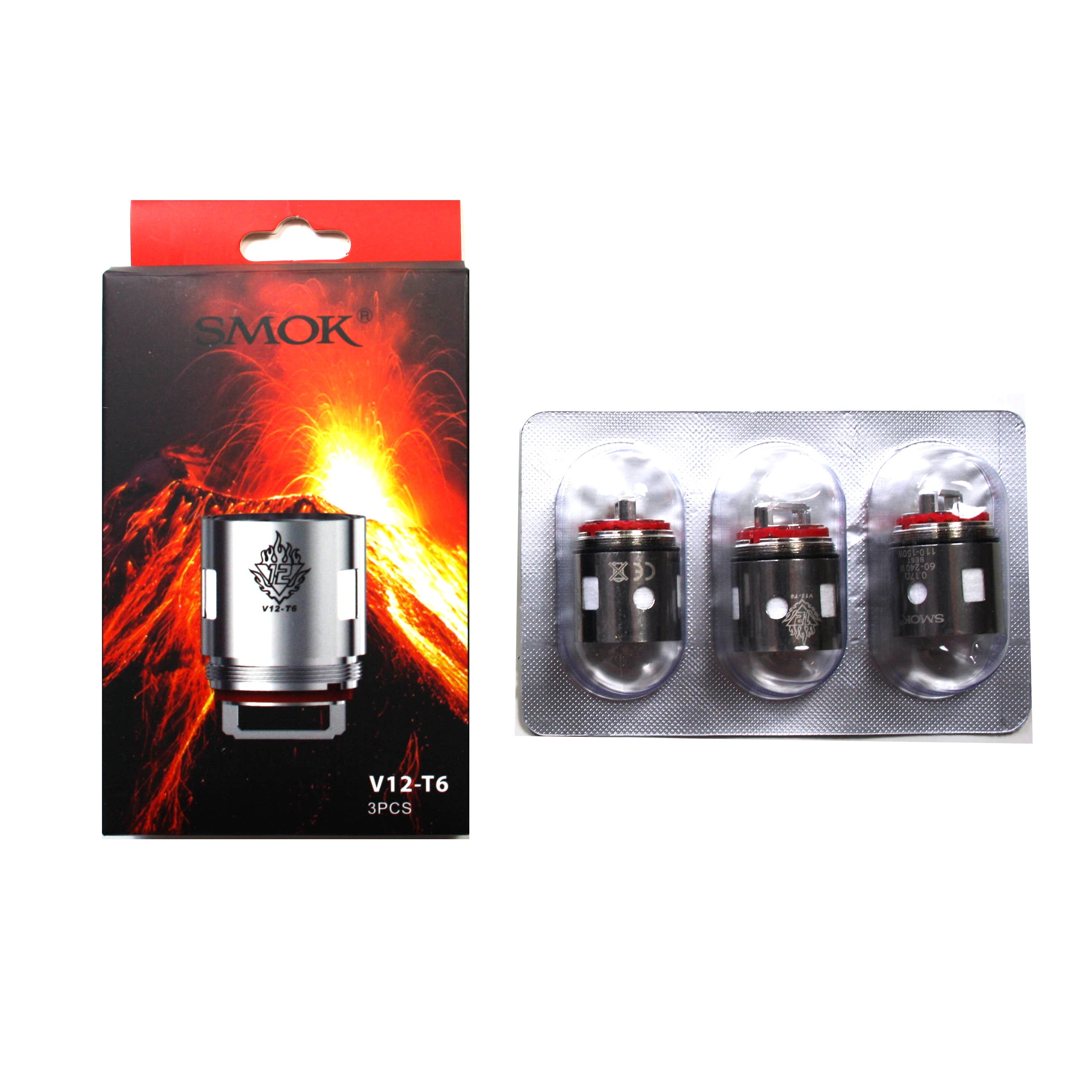 Smok TFV12 T6 Coil - 3 Pack