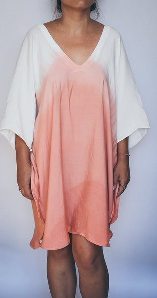 Dip Dye Kaftan Short-Length W/ 2 Colors To Choose From