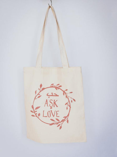 Love Tote Bag - 5 Colors To Choose From