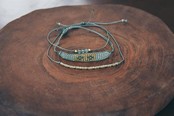 Ada Stacked Bracelet Set - 3 Colors To Choose From