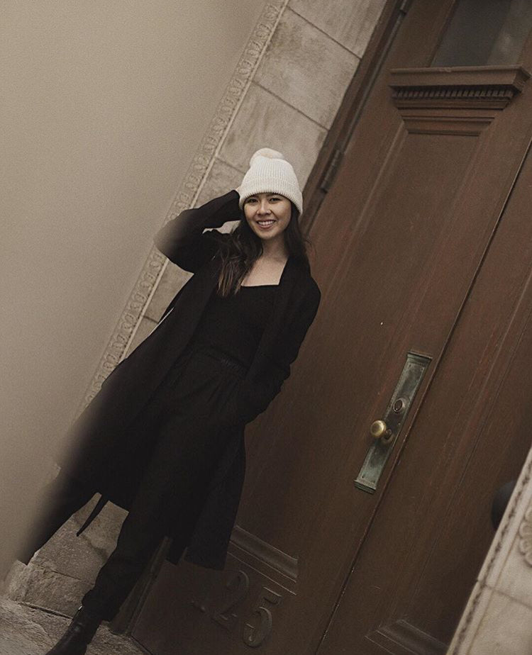 Aney Mei of Allure of Simplicity in our Pompom hat
