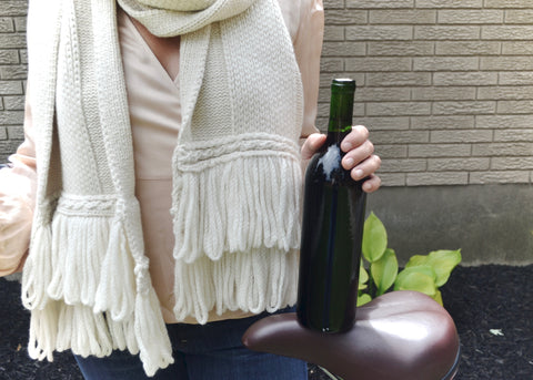 scarf wine alpaca eco wine