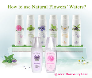 How to use Natural Flowers' Waters ?