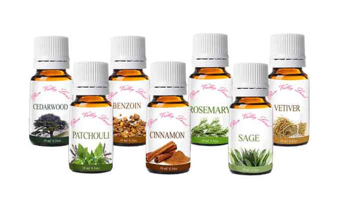 This set include 7 of the most popular fall aroma essential oils: Benzoin Essential Oil,  Cedarwood Essential Oil, Cinnemon Essential Oil, Clove Essential Oil, Patchouli Essential Oil, Rosemary Essential Oil, Vetiver Essential Oil , Where to buy vetiver oil, lavender oil uses, benefits of using rose oil