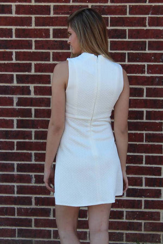 White Texture Dress - BCBGeneration
