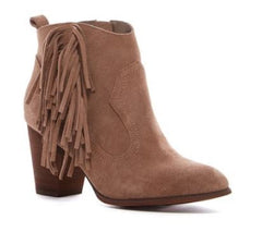 Neutron Fringe Suede Bootie By Restricted