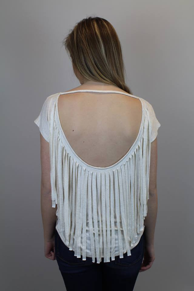 Bull Feather Fringe Top