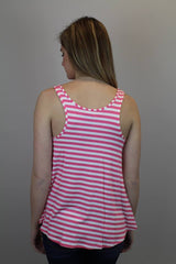 Pink Stripe Tank Top