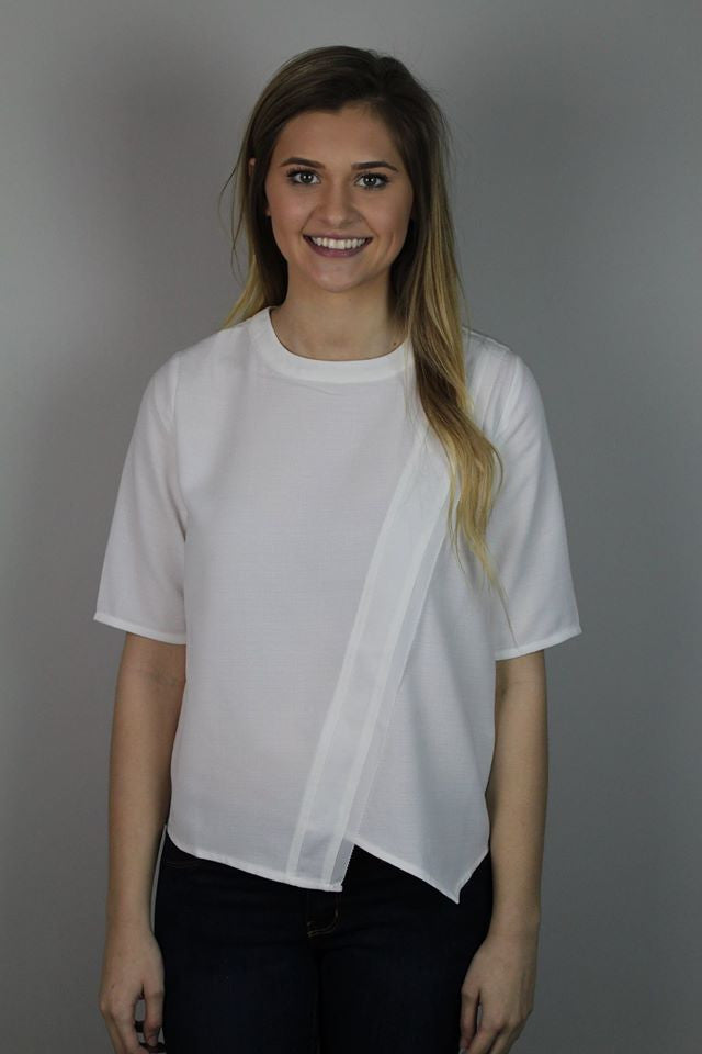 White Crossover Top