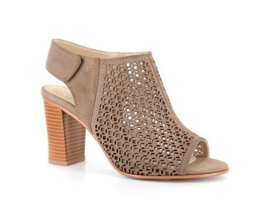 Taupe Laer Cut Out Heel By Corkys