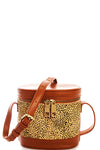 Cheetah Print Shoulder Bag - Tan