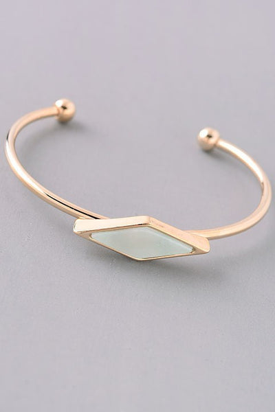 King Of Diamonds Stone Cuff {Blush - Mint - Sky Blue}