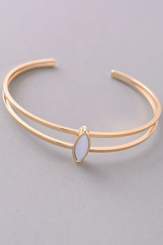 Diamond Shape Natural Stone Cuff {Blush - Mint - Sky Blue}