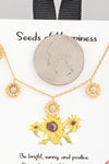 multi sunflower necklace