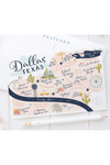 Dallas Texas Map Postcard