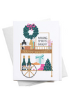 Christmas Liquor Bar Cart Card