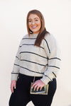Taupe Stripe Sweater