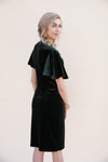 Velvet Midi Dress - Hunter Green