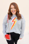 Bold Colorful Lightning Bolt Sweater
