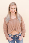 Arizona Cropped Sweater- Camel