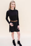 Turtleneck Dress - Black