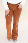 Corduroy Flare Pants - Camel