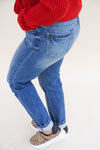 Tobi Super-High Rise Mom Jeans - Medium Wash