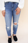 Clara High Rise Crop Skinny Jeans