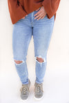 Bella Super High Rise Jeans - Light Wash