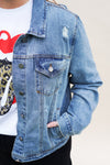 Distressed Denim Jacket +