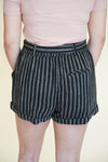Endless Stripes Shorts - Black