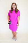 Romantic Revival Dress - Magenta +