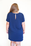 Romantic Revival Dress - Navy +
