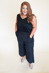 Best Night Jumpsuit - Black +