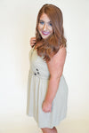 Adored By You Dress - Taupe
