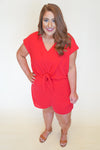 weekend bliss romper - red +