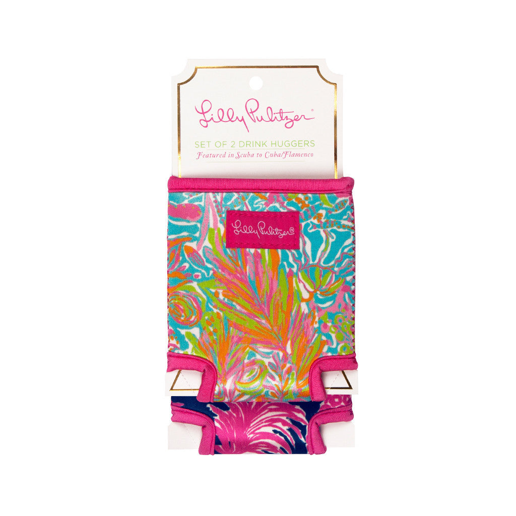 Beverage Hugger Set {Flamenco + Scuba to Cuba} - Lilly Pulitzer