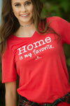 Home is My Favorite {Red} - Luna Boutique
