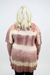 Peach Tie Dye Top + - Luna Boutique
