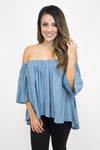 Slate Off-Shoulder Top