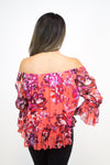 Red Floral Off-Shoulder Top - Lucky Brand