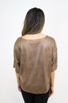 Brown Suede Top - BB Dakota