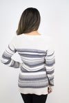 Ivory + Grey Pattern Sweater