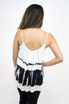Ivory + Black Tie Dye Tank - BB Dakota