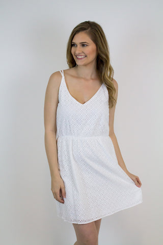 Ivory Detailed Dress