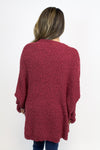 Cozy Up Burgundy Cardigan