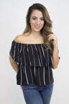 Over The Line Off Shoulder Top