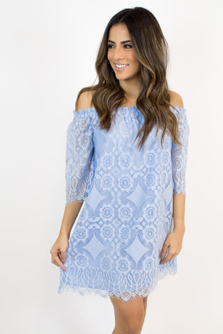 Light Blue Lace Dress - Jack by BB Dakota